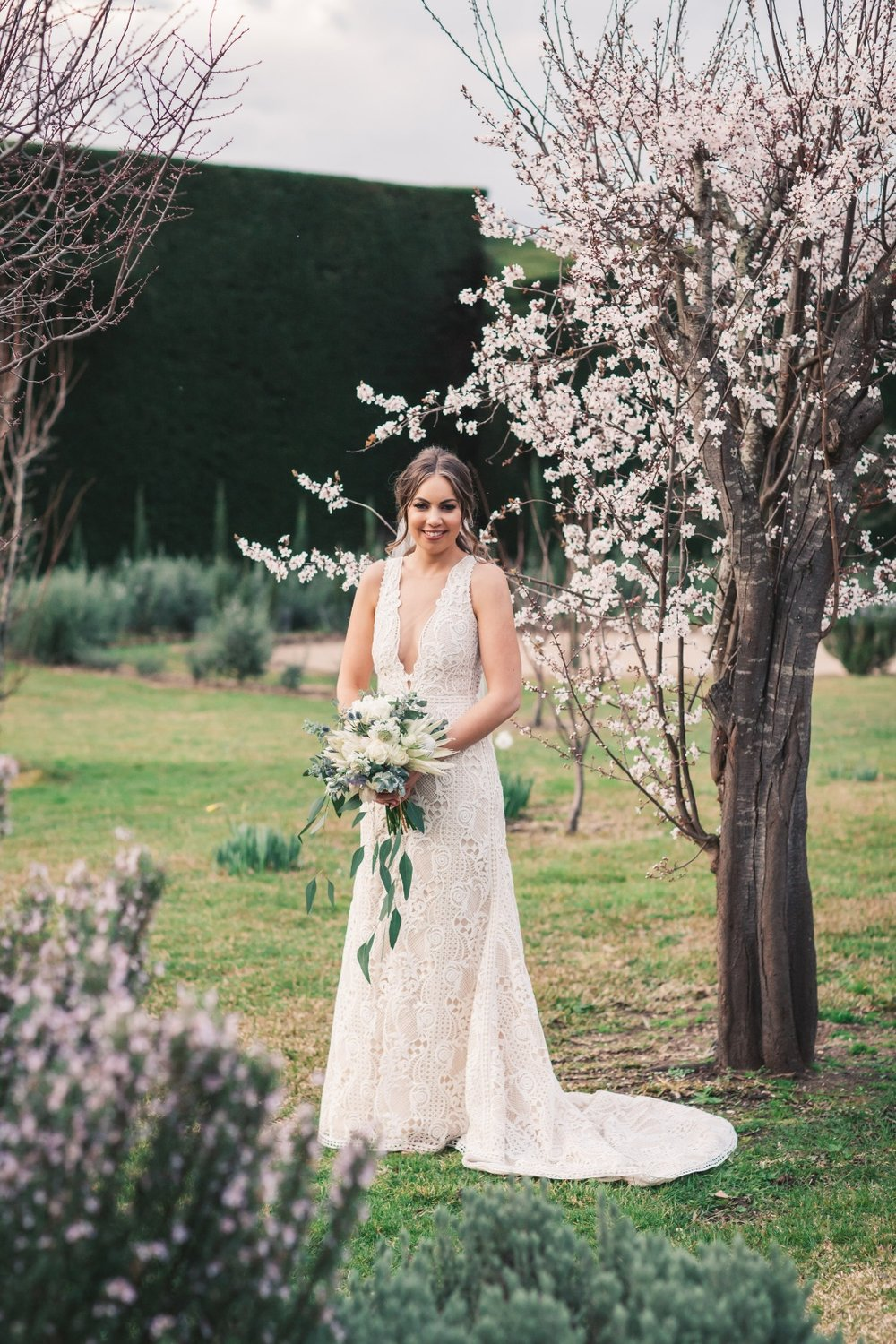 Beck in the Bronte Wedding Dress by Suzanne Harward as featured on LOVE FIND CO.
