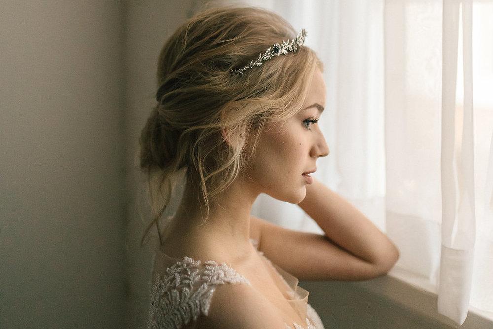 Harper Antique Silver Crystal Crown