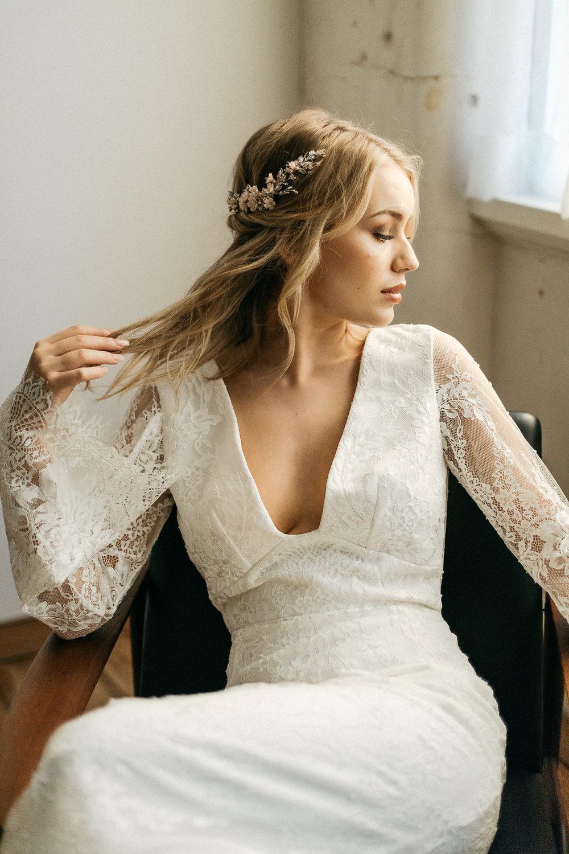 Le Poeme Silver Blush Wedding Headpiece