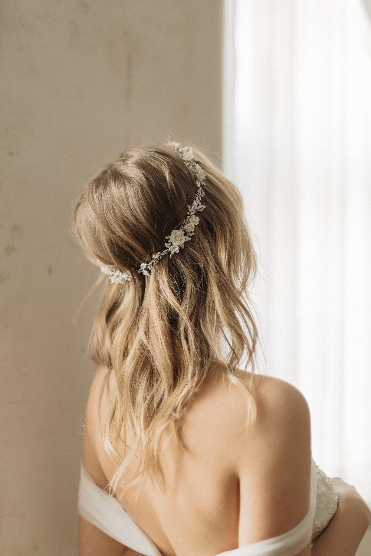 Gabriel Floral Wedding Crown