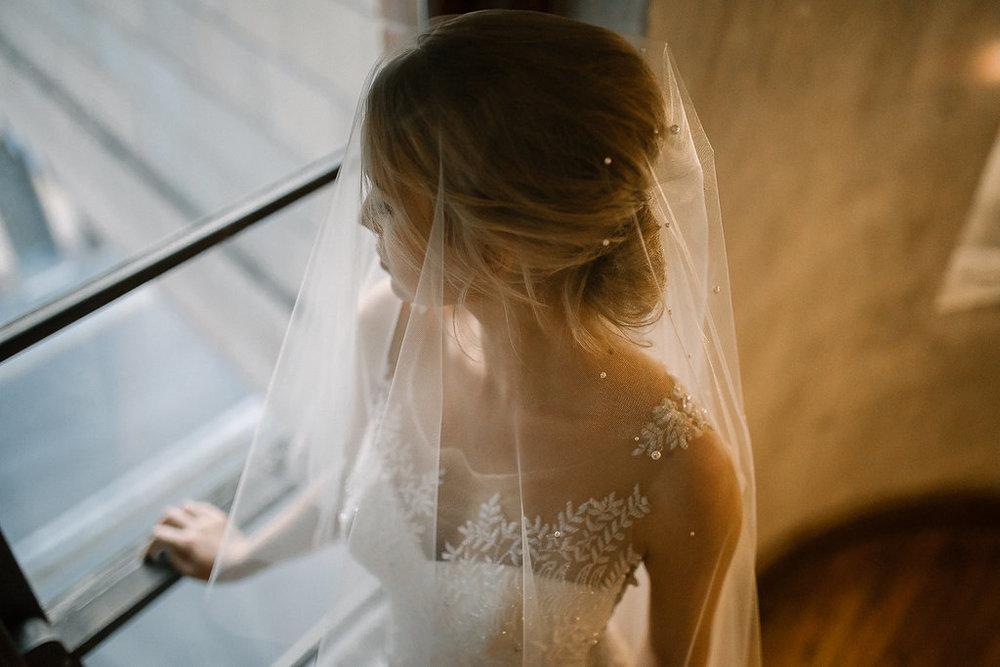 Theodore Pearl Chapel Wedding Veil
