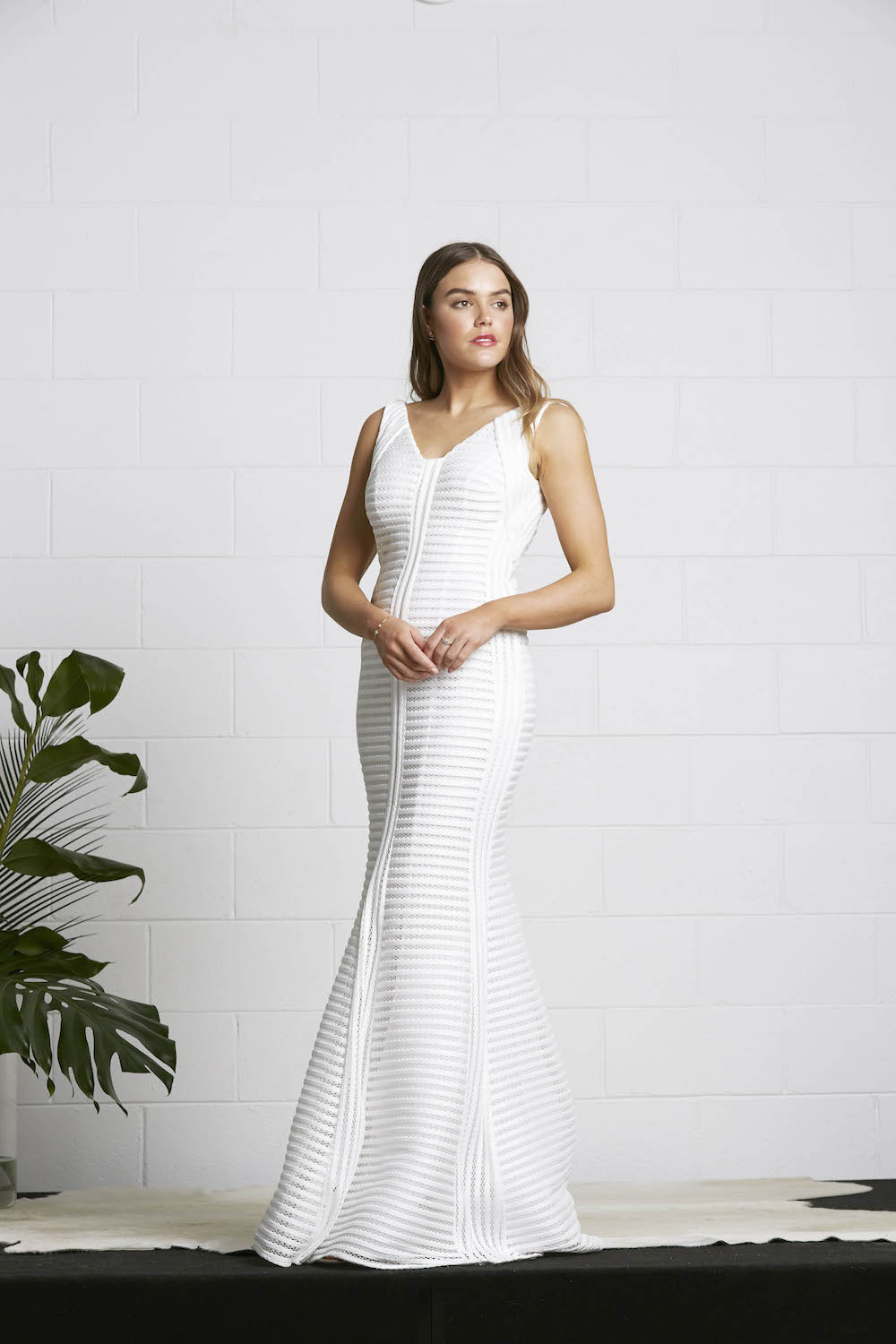 The Contour wedding dress by Fiona Claire, featured on LOVE FIND CO.