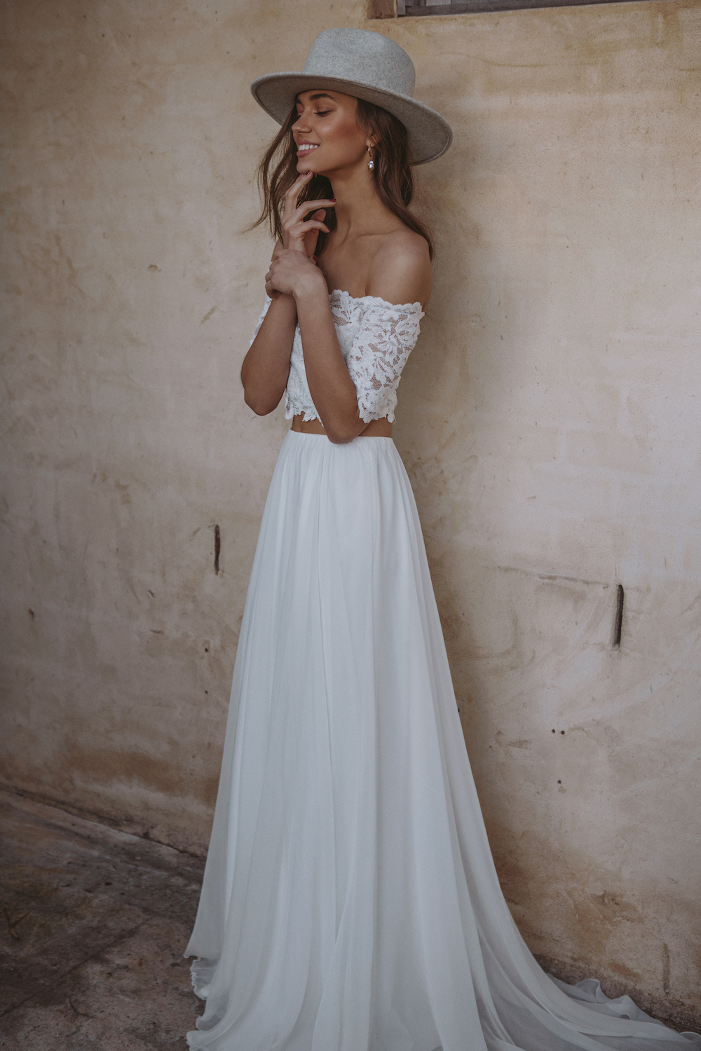 The LUNA wedding dress from the Les Deux Capsule Collection by Grace Love Lace featured on LOVE FIND CO.