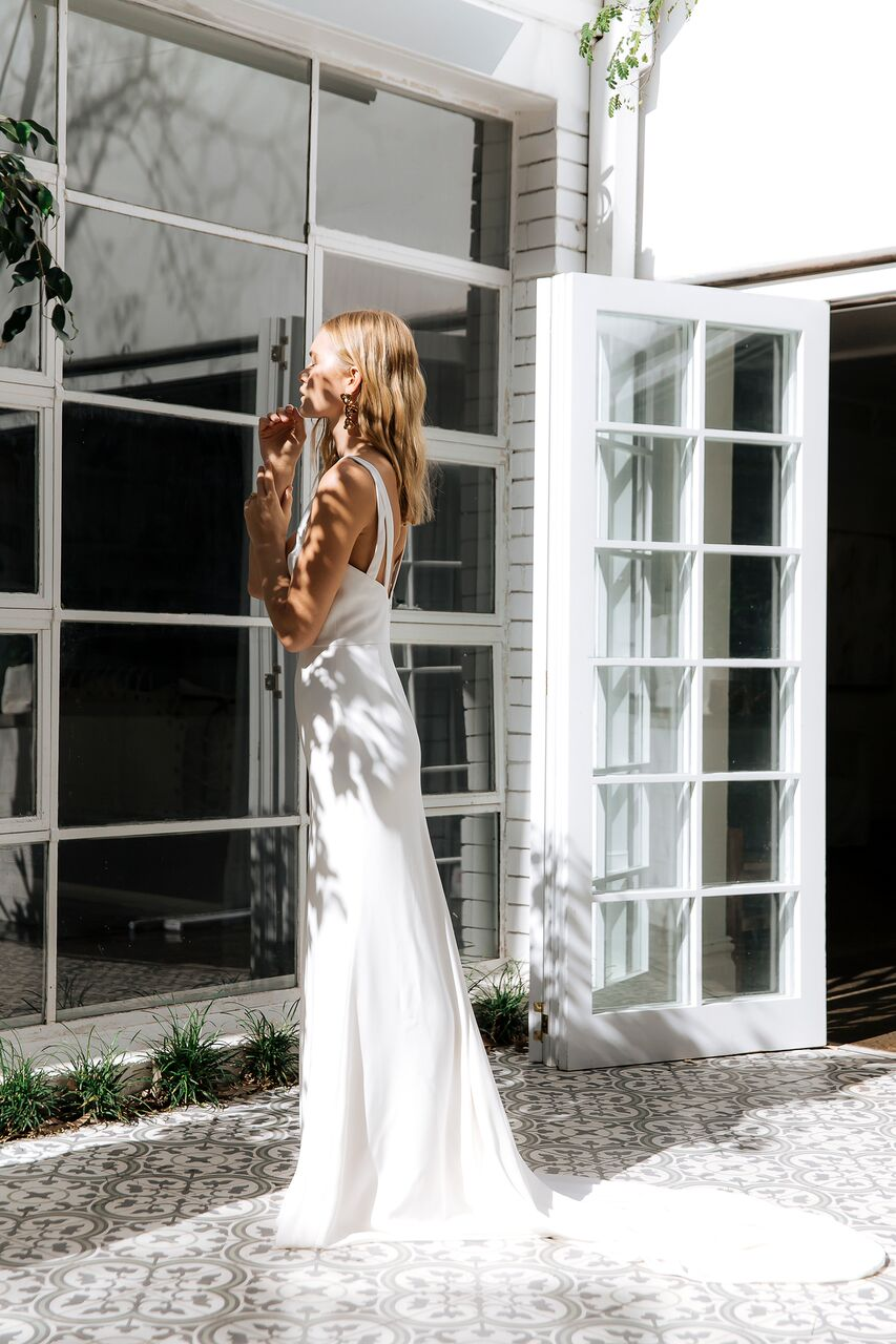 The Nadia wedding dress by Prea James featured on LOVE FIND CO.