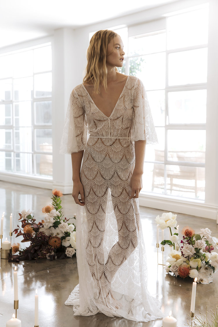 The Isobel wedding dress by Prea James featured on LOVE FIND CO.