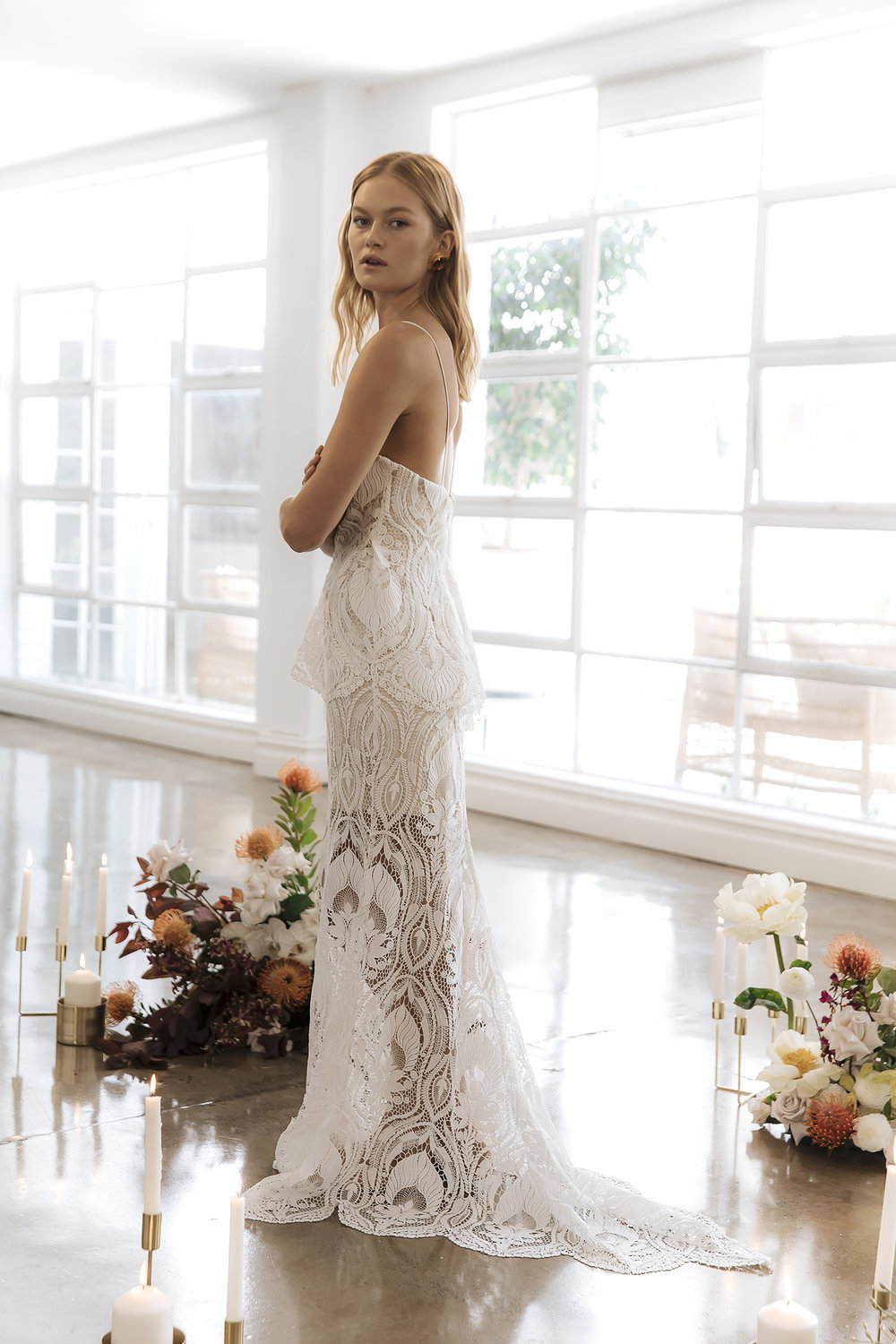 The Alessandra wedding dress by Prea James featured on LOVE FIND CO.
