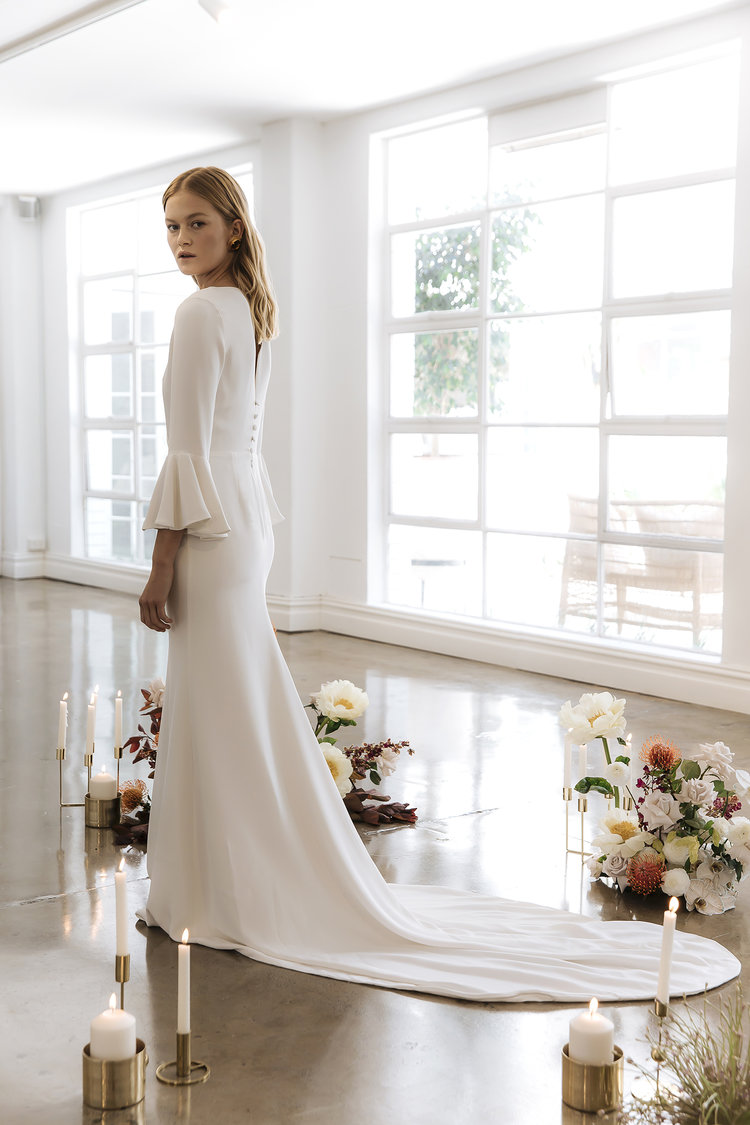 The Eleonora wedding dress by Prea James featured on LOVE FIND CO.