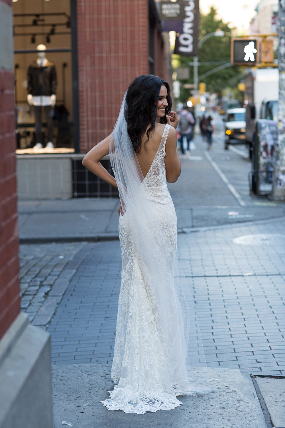 The Harlow wedding dress by Anna Campbell featured on LOVE FIND CO.