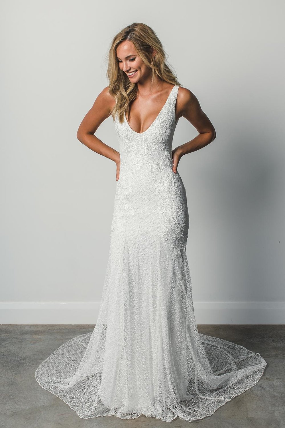 The Dominique wedding dress by Grace Loves Lace featured on LOVE FIND CO.