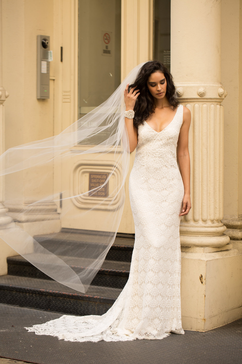 The Saasha wedding dress by Anna Campbell featured on LOVE FIND CO.