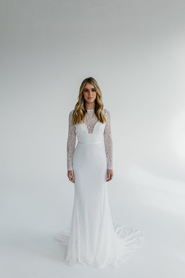 The Karina wedding dress by Karen Willis Holmes featured on LOVE FIND CO.