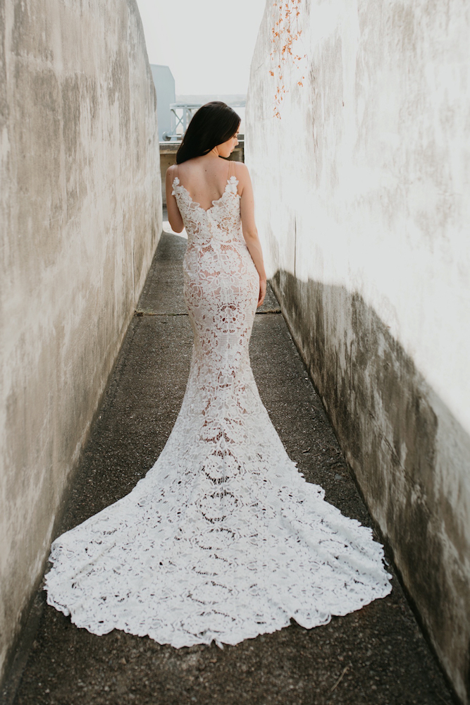 The Celeste wedding dress by Goddess By Nature featured on LOVE FIND CO.