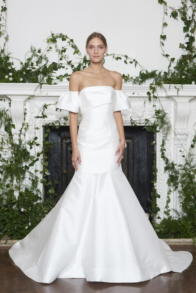 Wedding dress with off the shoulder sleeves featured on LOVE FIND CO.