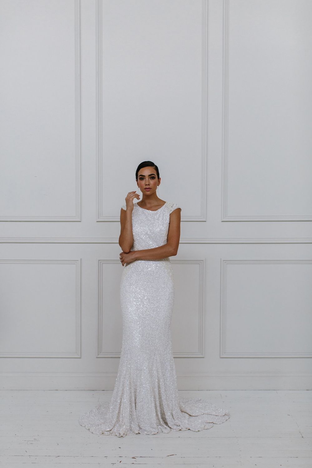 Roxanna - KWH by Karen Willis Holmes 2018 sequin wedding dress Collection