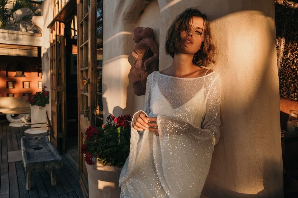 Jennifer Go Bridal 2018 Bridal Collection - The Nights Sky Wedding Dress featured on LOVE FIND CO.