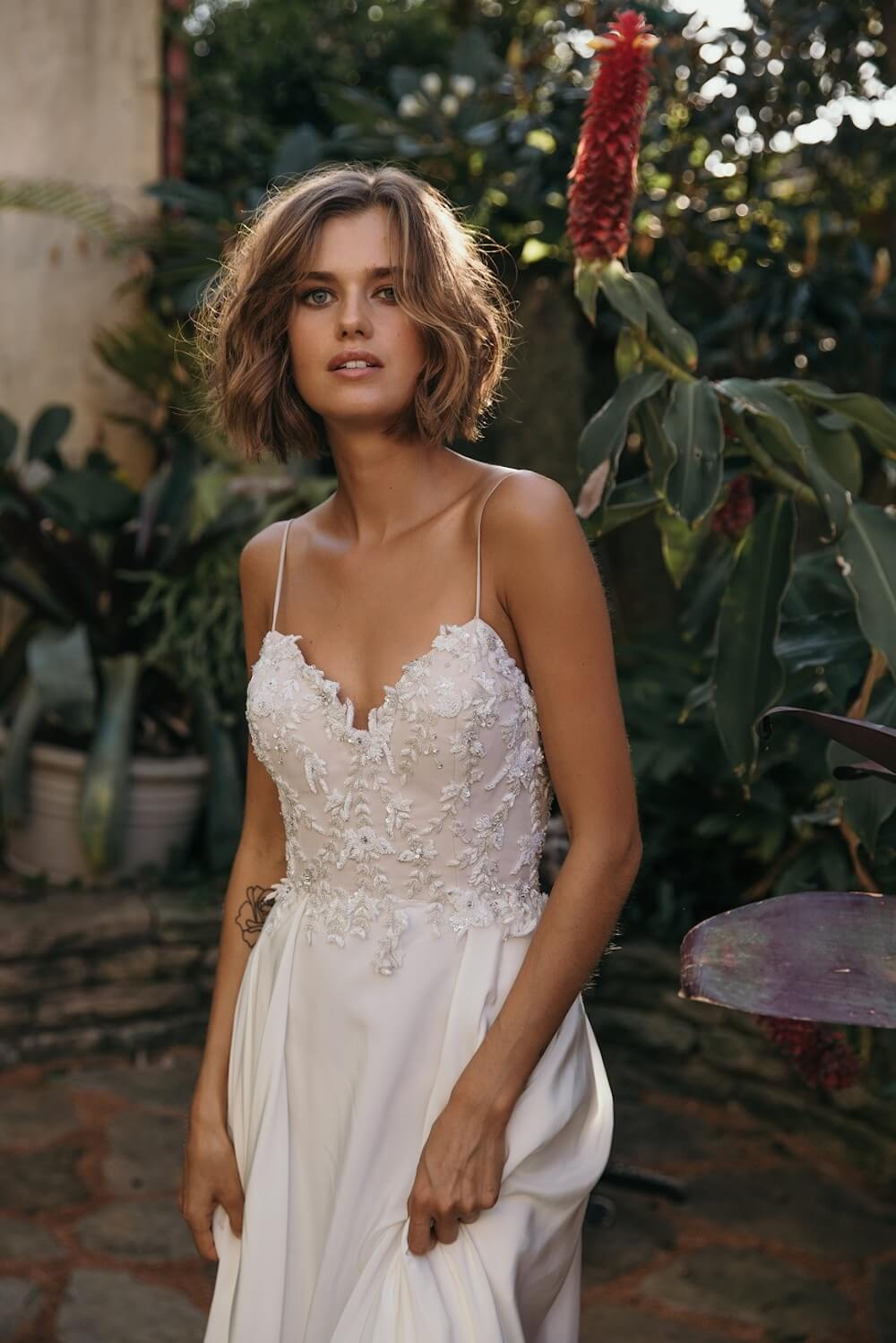 Summer Rain wedding dress by Jennifer Go Bridal featured on LOVE FIND CO.