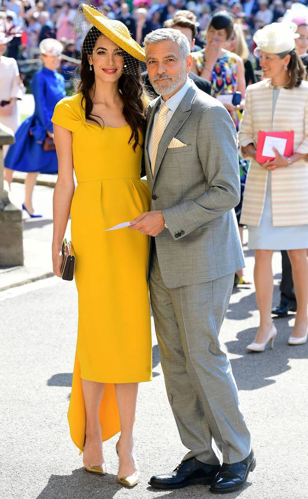 Amal Clooney at the Royal Wedding of Prince Harry and Meghan Markle