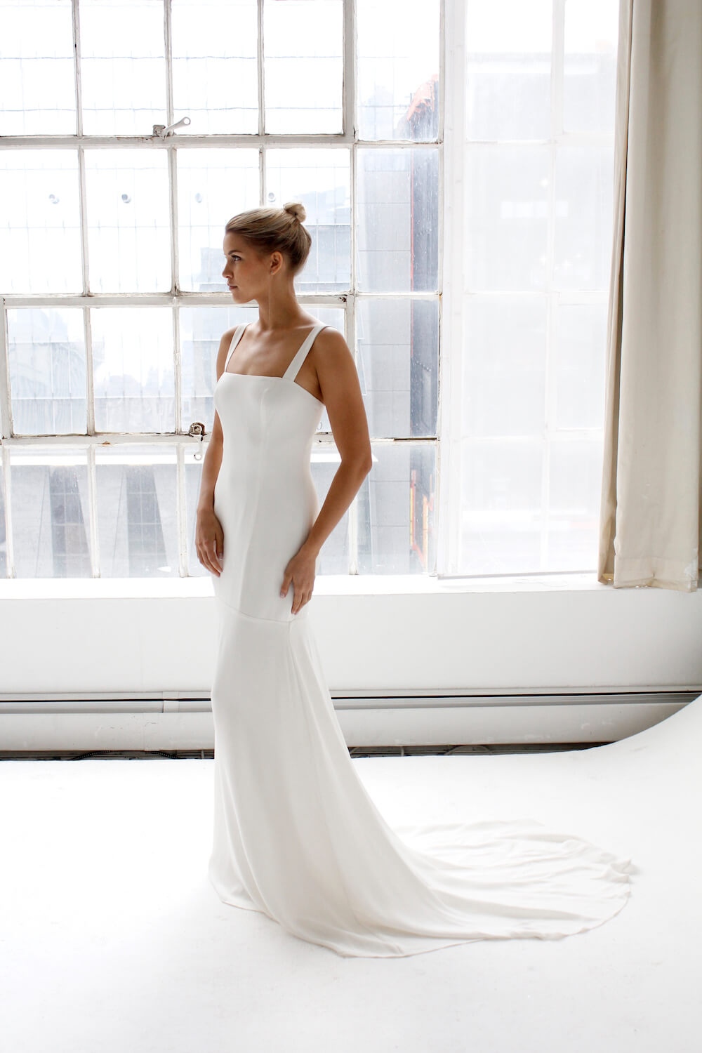 Clarity wedding dress by Fiona Claire featured on LOVE FIND CO.