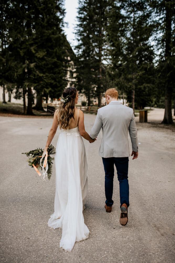 Jess wears a Grace Loves Lace wedding dress featured on LOVE FIND CO.
