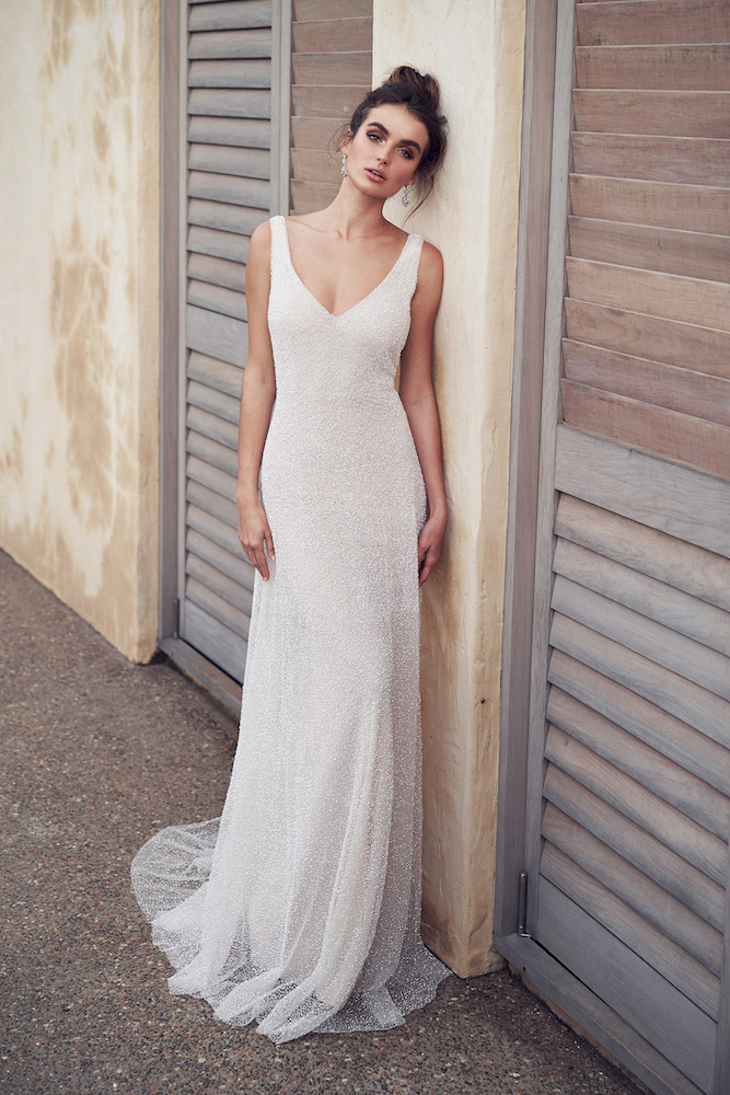 Wanda wedding dress by Anna Campbell featured on LOVE FIND CO.
