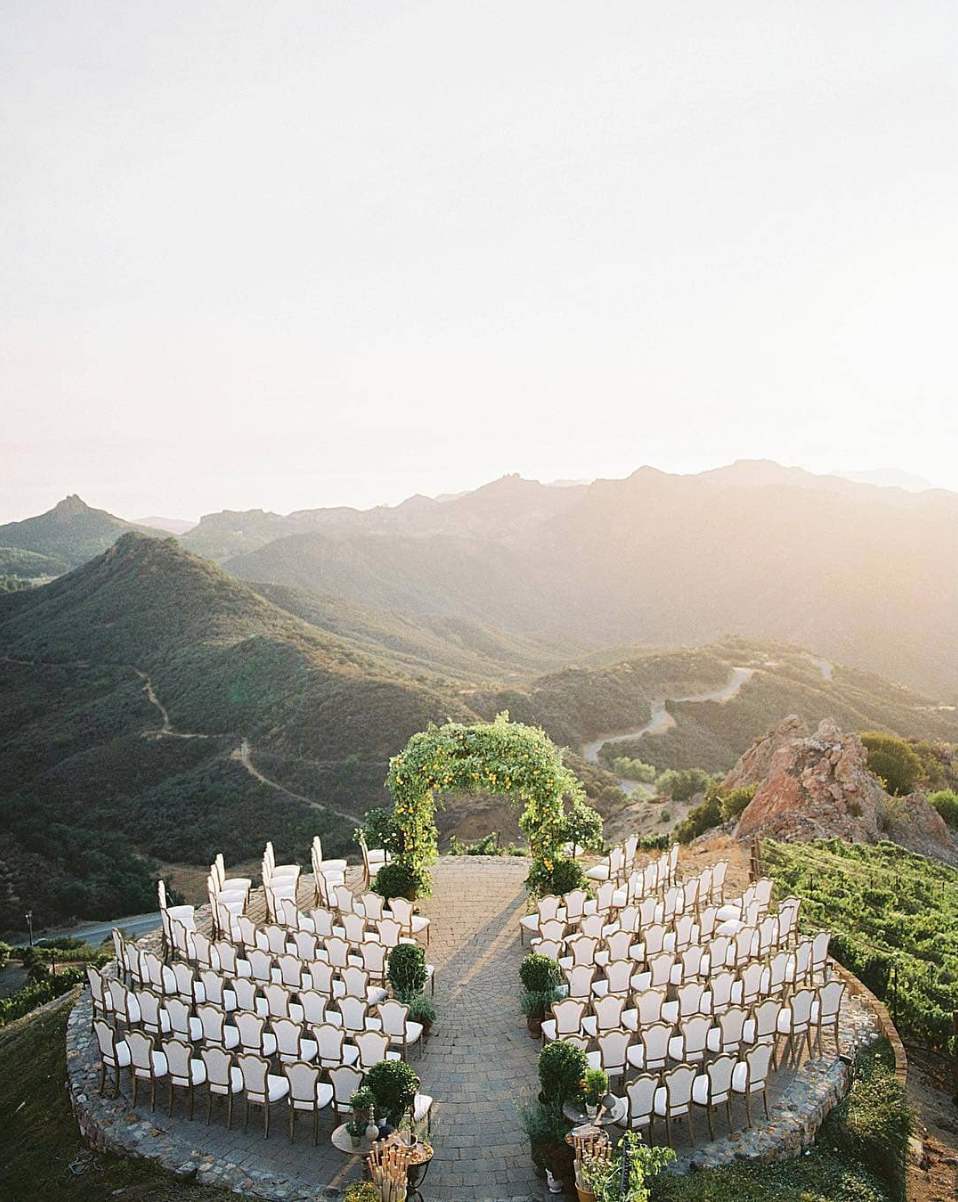 Malibu Rocks Oaks Estate Vineyard in California wedding reception featured on LOVE FIND CO.