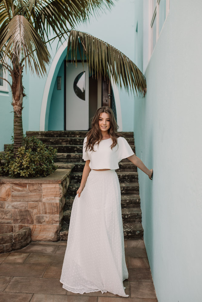 The Flora Two Piece wedding look by Daisy Brides