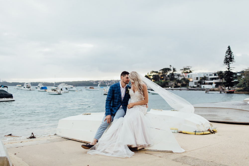 Ashleigh & Adrian | Ashleigh wears a Malachi Empire wedding dress featured on LOVE FIND CO.