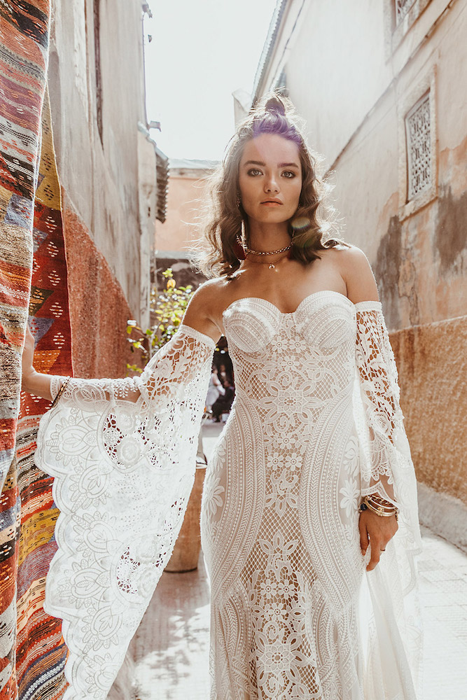 The Adara wedding dress from Rue De Seine featured on LOVE FIND CO.