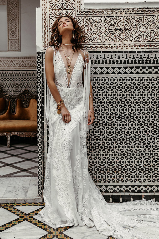 The West wedding dress from Rue De Seine featured on LOVE FIND CO.