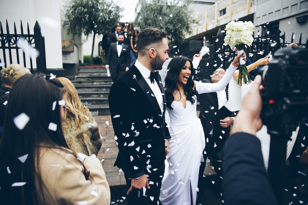 The wedding of Ally & George featured on LOVE FIND CO.