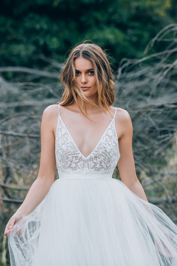 Georgia White Tulle Gowns on LOVE FIND CO.