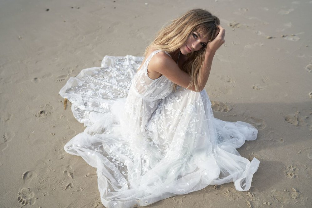 Amelie wedding dress from the Anna Campbell Wanderlust Collection exclusively featured on LOVE FIND CO.