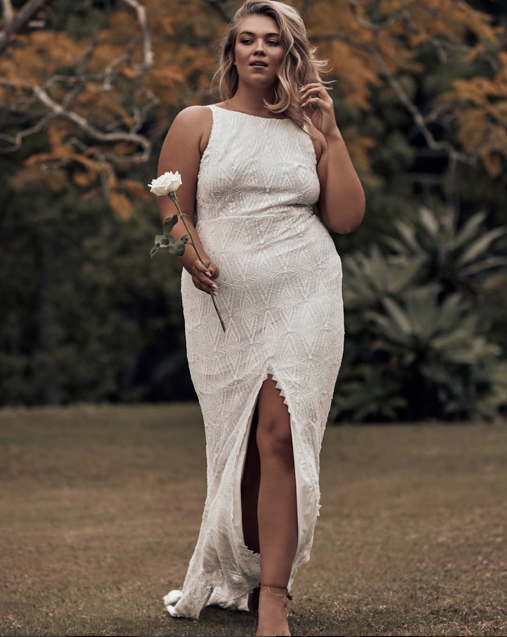 The LEON wedding dress for plus size brides by Grace Loves Lace featured on LOVE FIND CO.