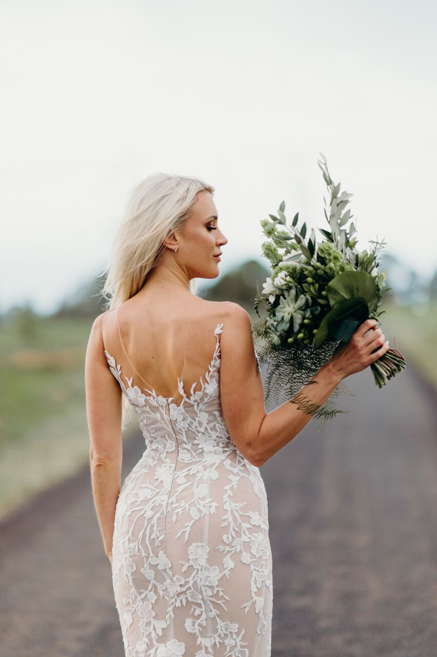 Estelle and Matt featuring a George Wu wedding dress on LOVE FIND CO. Wedding Inspiration