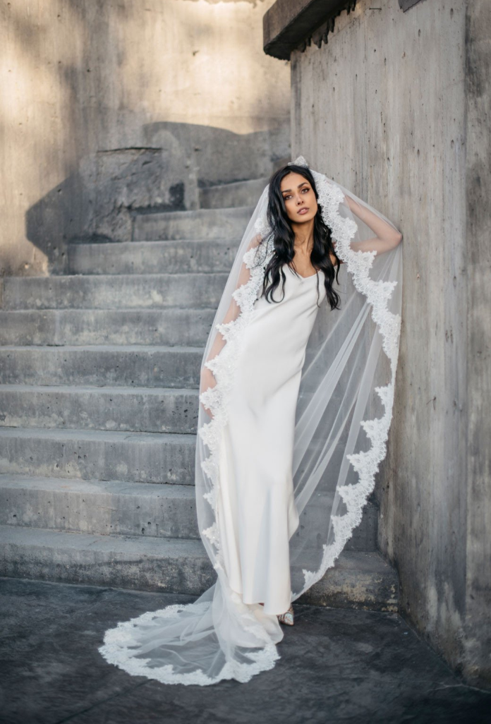 Catarina Beaded Veil by Daphne Newman featured on LOVE FIND CO.