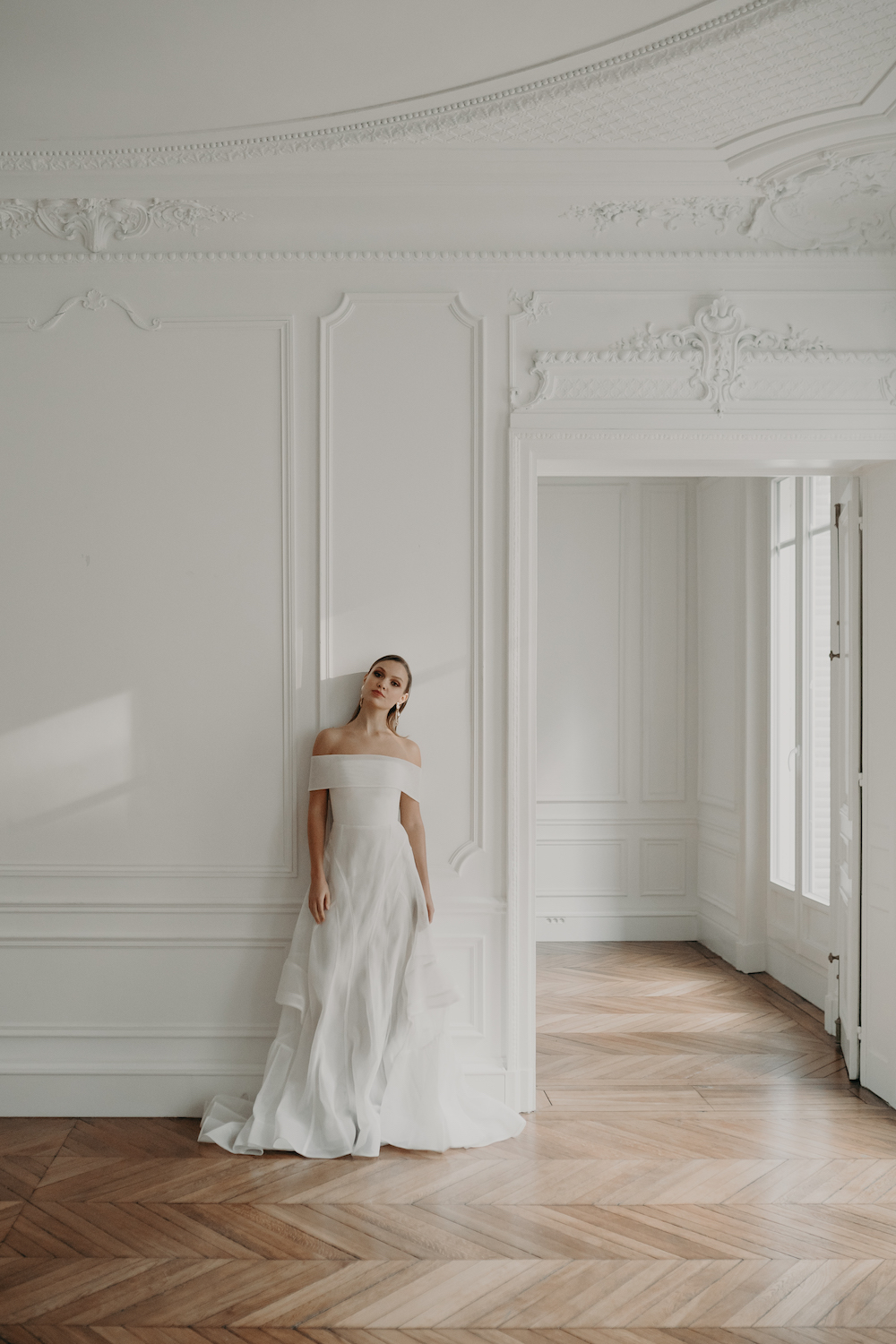 Love Find Co. Parisian Bridal Editorial featuring Georgia Young Couture