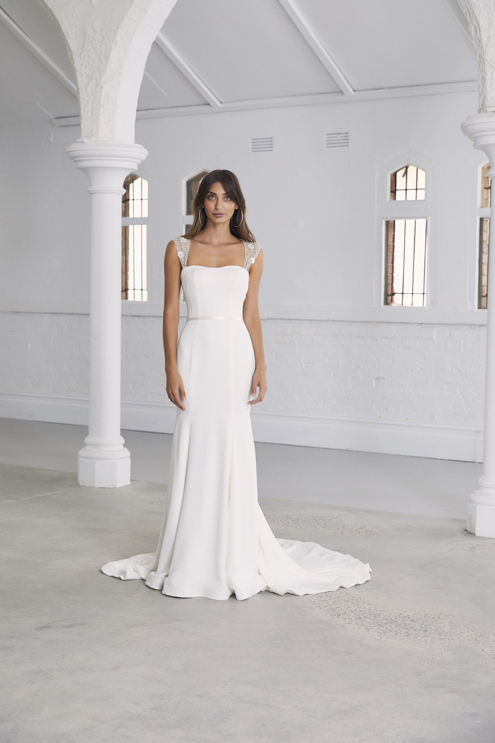The Felica wedding dress by Amaline Vitale featured on LOVE FIND CO.