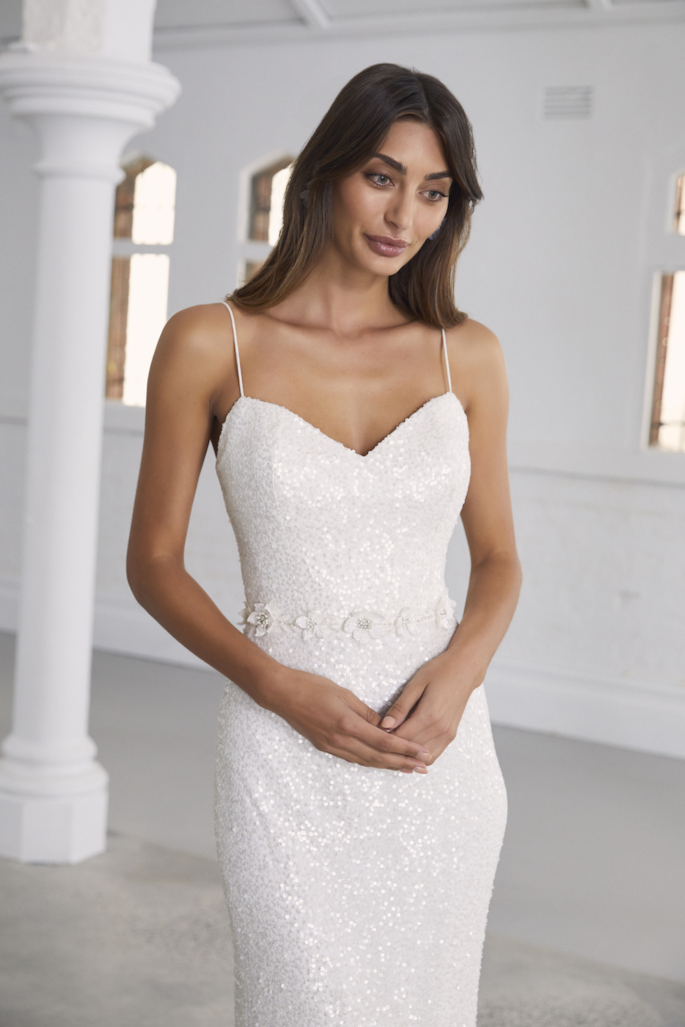 The Leonie wedding dress by Amaline Vitale featured on LOVE FIND CO.