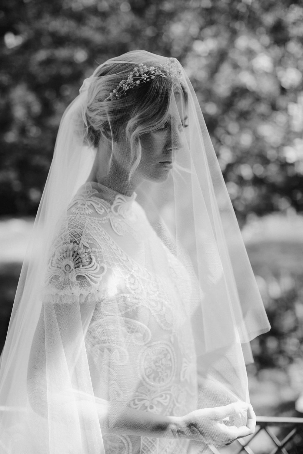 AMORA CHAPEL VEIL WITH BLUSHER by TANIA MARAS featured on LOVE FIND CO.