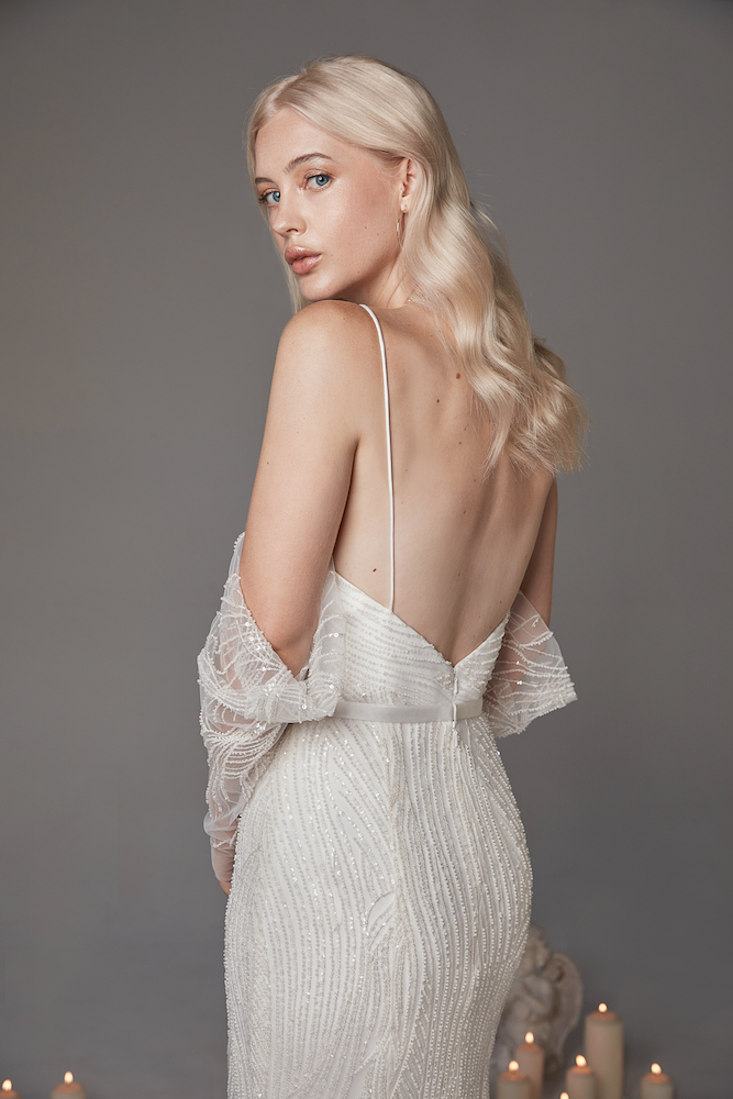 Beaded Luna Gown by OUI THE LABEL 'New Wine' Collection featured on LOVE FIND CO.
