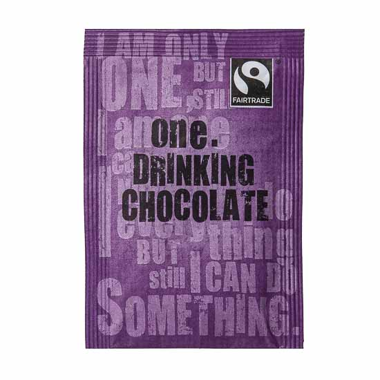 So not only is this a great tasting drinking chocolate, it's also Fairtrade, making it taste good, and leaving you feeling good about drinking it and saving the world.