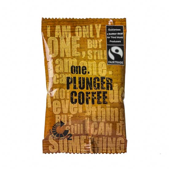 15gm of excellent, Fairtrade certified, premium plunger coffee, making this the One plunger coffee you can enjoy guilt free anytime.