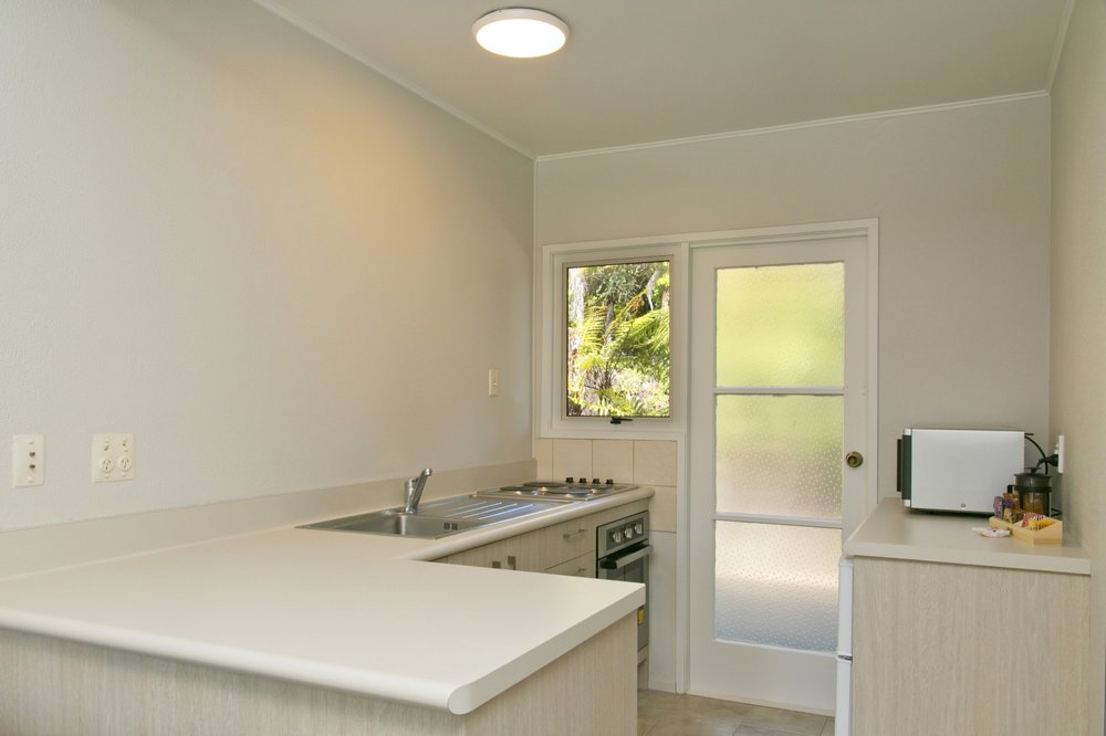 Kitchen facilities in a Two Bedroom Poolside.