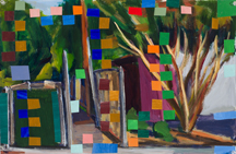 """Gate, 12""""x19"""",2010"""
