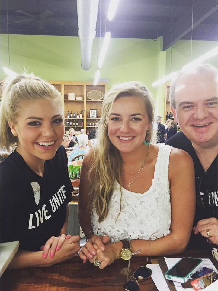 L-R: Meg McGuffin, Miss Alabama 2015, Kelsey Barnard Clark, KBC Chef + Proprietor, Walter Hill, CEO of Wiregrass United Way