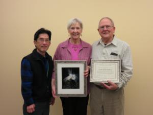 ASNV President Carl Kikuchi, Carol and Jay Hadlock photo - Dixie Sommers