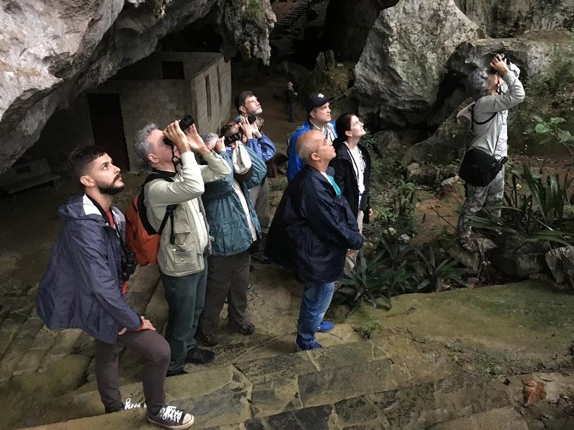 Birders in Che Guevara Cave - Robin Duska