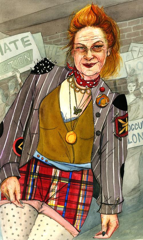 Portrait of boundary-pushing fashion designer and activist,Vivienne Westwood.