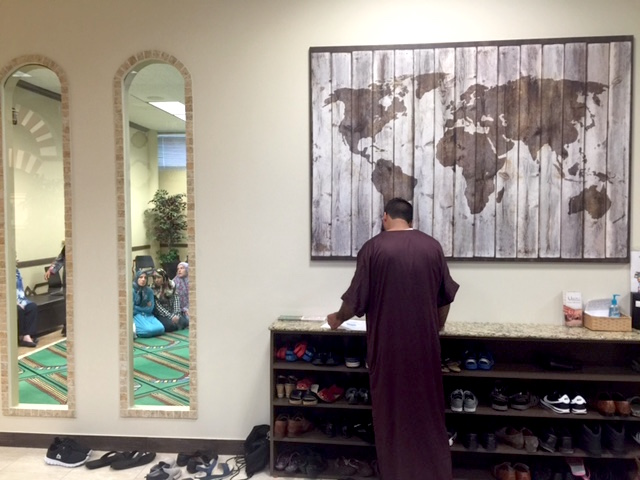 Yousuf Farook lives in Dallas but comes to Islam in Spanish when he's in Houston on business.