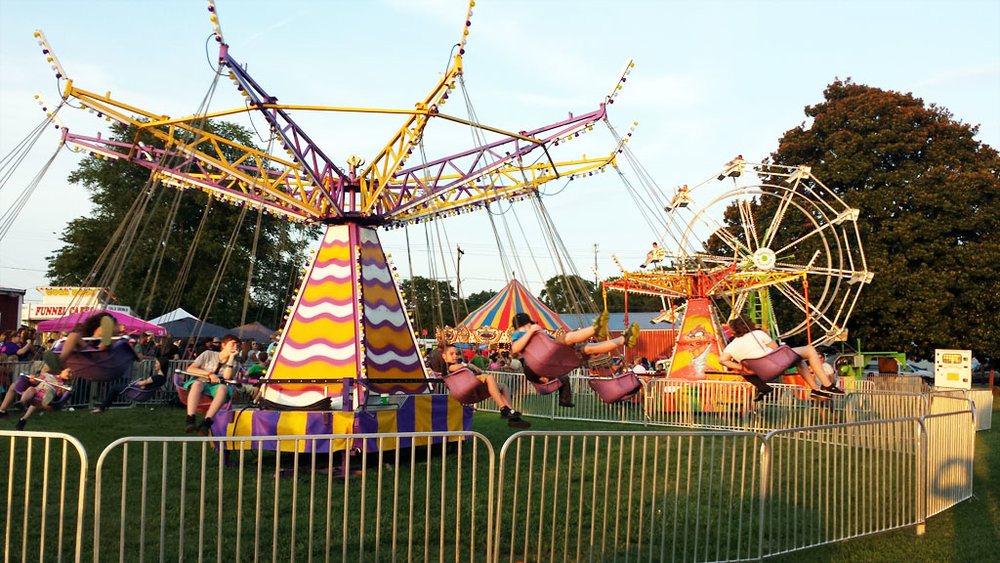 Cyclone Super Swing - Cyclone Super Swing Ride is a fairground ride that is a variation on the carousel in which the chairs are suspended from the rotating top of the carousel.